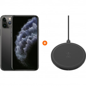 Apple iPhone 11 Pro 256 GB Space Gray + Belkin Boost Up Draadloze Oplader 10W Zwart – Telefoonstore.nl