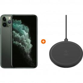 Apple iPhone 11 Pro 256 GB Midnight Green + Belkin Boost Up Draadloze Oplader 10W Zwart – Telefoonstore.nl
