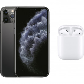 Apple iPhone 11 Pro 64 GB Space Gray + Apple AirPods 2 met oplaadcase – Telefoonstore.nl