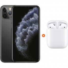 Apple iPhone 11 Pro 256 GB Space Gray + Apple AirPods 2 met oplaadcase – Telefoonstore.nl