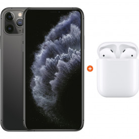 Apple iPhone 11 Pro Max 64 GB Space Gray + Apple AirPods 2 met oplaadcase – Telefoonstore.nl