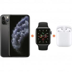 Apple iPhone 11 Pro 64 GB Space Gray + Apple Watch 5 40mm + Apple AirPods 2 met oplaadcase – Telefoonstore.nl