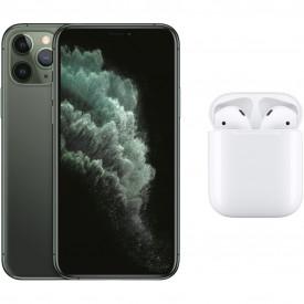Apple iPhone 11 Pro 256GB Midnight Green + Apple AirPods 2 met oplaadcase – Telefoonstore.nl