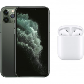 Apple iPhone 11 Pro 256GB Midnight Green + Apple AirPods 2 met oplaadcase – Telefoonstore.nl