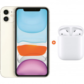 Apple iPhone 11 128 GB Wit + Apple AirPods 2 met oplaadcase – Telefoonstore.nl