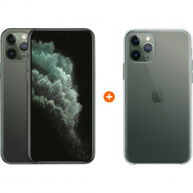 Apple iPhone 11 Pro 256 GB Midnight Green + Apple iPhone 11 Pro Clear Case – Telefoonstore.nl
