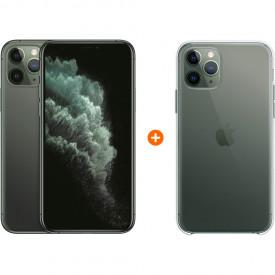 Apple iPhone 11 Pro 64 GB Midnight Green + Apple iPhone 11 Pro Clear Case – Telefoonstore.nl