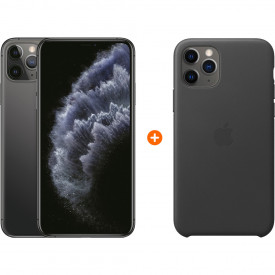 Apple iPhone 11 Pro Max 256 GB Space Gray + Apple iPhone 11 Pro Max Leather Back Cover – Telefoonstore.nl