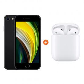 iPhone SE 64 GB Zwart + Apple AirPods 2 met oplaadcase – Telefoonstore.nl