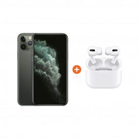 Apple iPhone 11 Pro 256 GB Midnight Green + Apple AirPods Pro met Draadloze Oplaadcase – Telefoonstore.nl