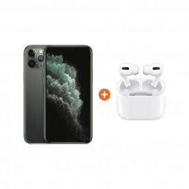 Apple iPhone 11 Pro 256 GB Midnight Green + Apple AirPods Pro met Draadloze Oplaadcase – Telefoonstore.nl