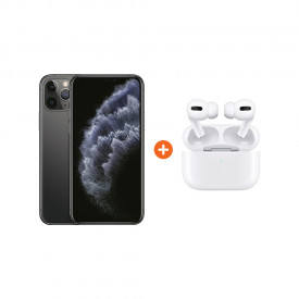 Apple iPhone 11 Pro 256 GB Space Gray + Apple AirPods Pro met Draadloze Oplaadcase – Telefoonstore.nl
