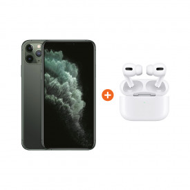 Apple iPhone 11 Pro Max 256 GB Midnight Green + Apple AirPods Pro met Draadloze Oplaadcase – Telefoonstore.nl