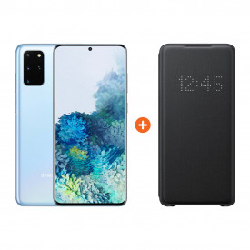 Samsung Galaxy S20 Plus 128GB Blauw 5G + Samsung Led View Book Case Zwart – Telefoonstore.nl