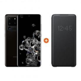 Samsung Galaxy S20 Ultra 128GB Zwart 5G + Samsung Led View Book Case Zwart – Telefoonstore.nl