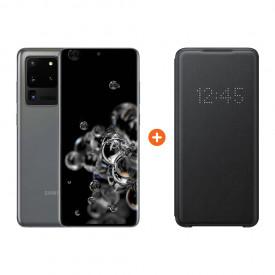 Samsung Galaxy S20 Ultra 128GB Grijs 5G + Samsung Led View Book Case Zwart – Telefoonstore.nl