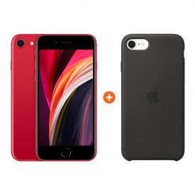 Apple iPhone SE 2 128 GB Rood + Apple iPhone SE Silicone Back – Telefoonstore.nl