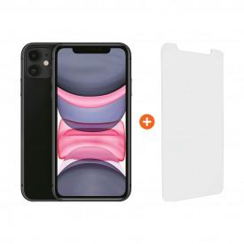 Apple iPhone 11 64 GB Zwart + InvisibleShield Glass Elite Vision+ Screenprotector – Telefoonstore.nl