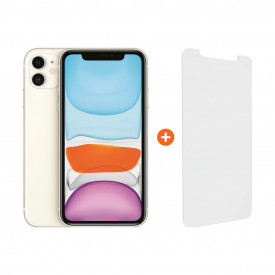 Apple iPhone 11 64 GB Wit + InvisibleShield Glass Elite Vision+ Screenprotector – Telefoonstore.nl