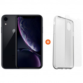 Apple iPhone Xr 128 GB Zwart + Otterbox Clearly Protected Skin Alpha Glass – Telefoonstore.nl