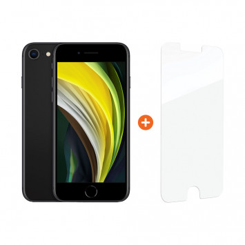 Apple iPhone SE 64 GB Zwart + InvisibleShield Glass Elite+ Screenprotector