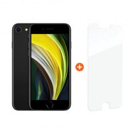 Apple iPhone SE 64 GB Zwart + InvisibleShield Glass Elite+ Screenprotector – Telefoonstore.nl