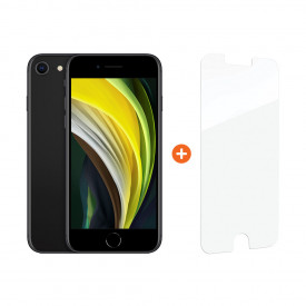 Apple iPhone SE 128 GB Zwart + InvisibleShield Glass Elite+ Screenprotector – Telefoonstore.nl