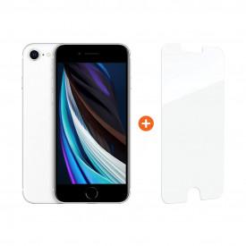 Apple iPhone SE 64 GB Wit + InvisibleShield Glass Elite+ Screenprotector – Telefoonstore.nl