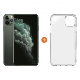 Apple iPhone 11 Pro Max 256 GB Midnight Green + Tech21 Pure Back Cover Transparant – Telefoonstore.nl