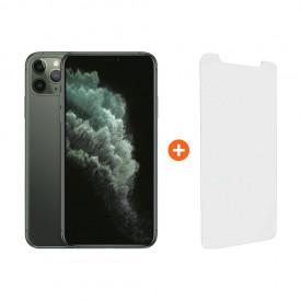 Apple iPhone 11 Pro Max 256GB Midnight Green + InvisibleShield Visionguard Screenprotector – Telefoonstore.nl