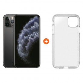 Apple iPhone 11 Pro 256 GB Space Gray + Tech21 Pure Back Cover Transparant – Telefoonstore.nl