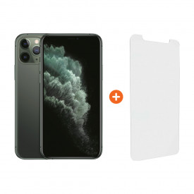 Apple iPhone 11 Pro 256 GB Midnight Green + InvisibleShield Visionguard+ Screenprotector – Telefoonstore.nl