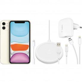 Apple iPhone 11 128 GB Wit + Accessoirepakket Totaal – Telefoonstore.nl