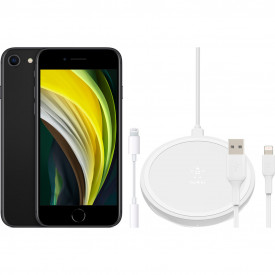 Apple iPhone SE 64 GB Zwart + Accessoirepakket Uitgebreid – Telefoonstore.nl