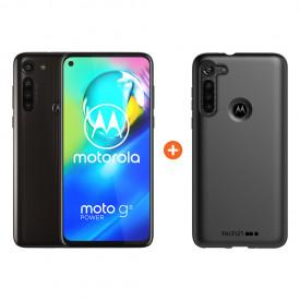 Motorola Moto G8 Power 64GB Zwart + Tech21 Studio Colour Back Cover Zwart – Telefoonstore.nl