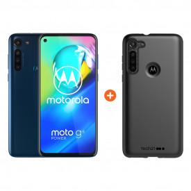 Motorola Moto G8 Power 64GB Blauw + Tech21 Studio Colour Back Cover Zwart – Telefoonstore.nl