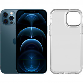 Apple iPhone 12 Pro 128GB Blauw + Tech21 Evo Clear Back Cover Transparant – Telefoonstore.nl