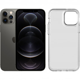 Apple iPhone 12 Pro 256GB Grafiet + Tech21 Evo Clear Back Cover Transparant – Telefoonstore.nl