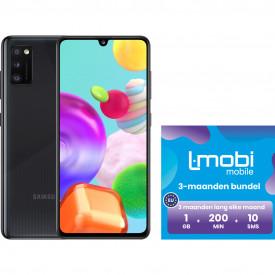 Samsung Galaxy A41 64GB Zwart + L-mobi simkaart met 3 maanden 1GB, 200 minuten & 10 smsjes – Telefoonstore.nl