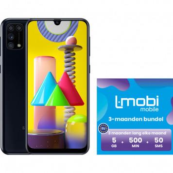 Samsung Galaxy M31 64GB Zwart + L-mobi simkaart met 3 maanden 5GB