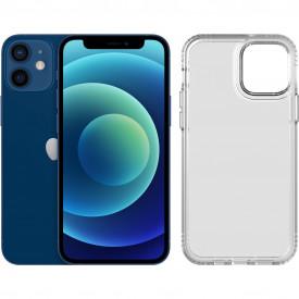 Apple iPhone 12 mini 64GB Blauw + Tech21 Evo Clear Back Cover Transparant – Telefoonstore.nl