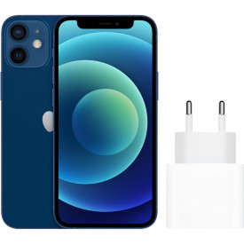 Apple iPhone 12 mini 128GB Blauw + Apple Usb C Oplader 20W – Telefoonstore.nl