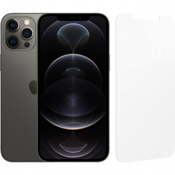 Apple iPhone 12 Pro Max 128GB Grafiet + InvisibleShield Glass Elite Screenprotector