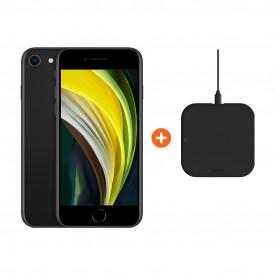 Apple iPhone SE 128 GB Zwart + ZENS Slim Line Draadloze Oplader – Telefoonstore.nl