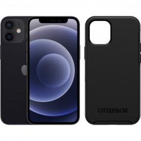 Apple iPhone 12 mini 64GB Zwart + Otterbox Symmetry Back Cover Zwart – Telefoonstore.nl