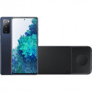 Samsung Galaxy S20 FE 128GB Blauw 4G + Samsung Trio Draadloze Oplader 9W Zwart – Telefoonstore.nl