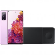 Samsung Galaxy S20 FE 128GB Paars 4G + Samsung Trio Draadloze Oplader 9W Zwart – Telefoonstore.nl