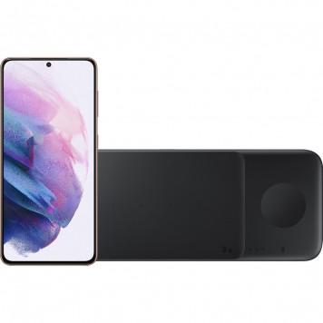 Samsung Galaxy S21 128GB Paars 5G + Samsung Trio Draadloze Oplader 9W Zwart
