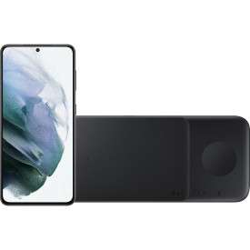 Samsung Galaxy S21 256GB Grijs 5G + Samsung Trio Draadloze Oplader 9W Zwart – Telefoonstore.nl