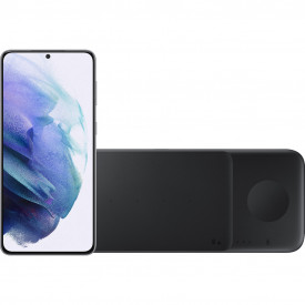 Samsung Galaxy S21 Plus 128GB Zilver 5G + Samsung Trio Draadloze Oplader 9W Zwart – Telefoonstore.nl